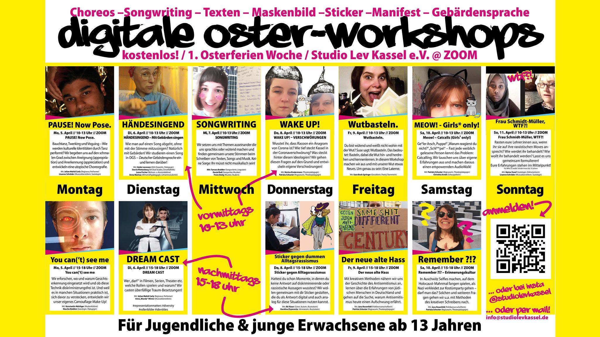 Osterworkshops für Jugendliche - kostenlos und digital